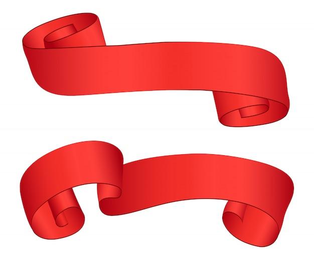 赤いリボンのデザイン