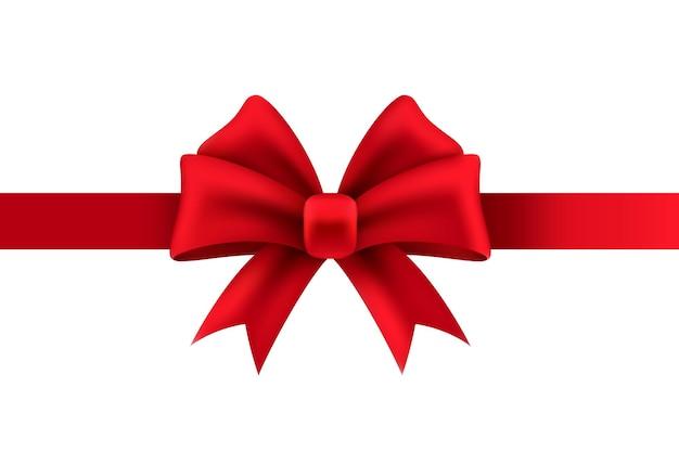 現在のパッケージの装飾のクリスマスや結婚式の休日のデザインの赤いリボン