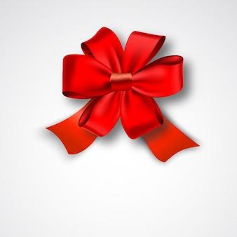 赤いリボンのサテンの弓