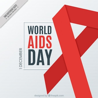 Red ribbon of the world aids day