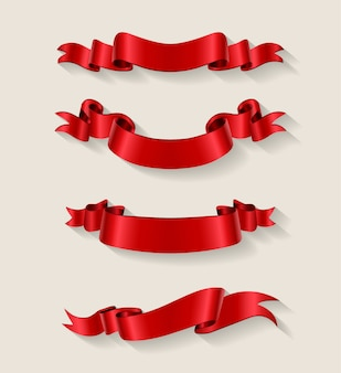 Red ribbons collection