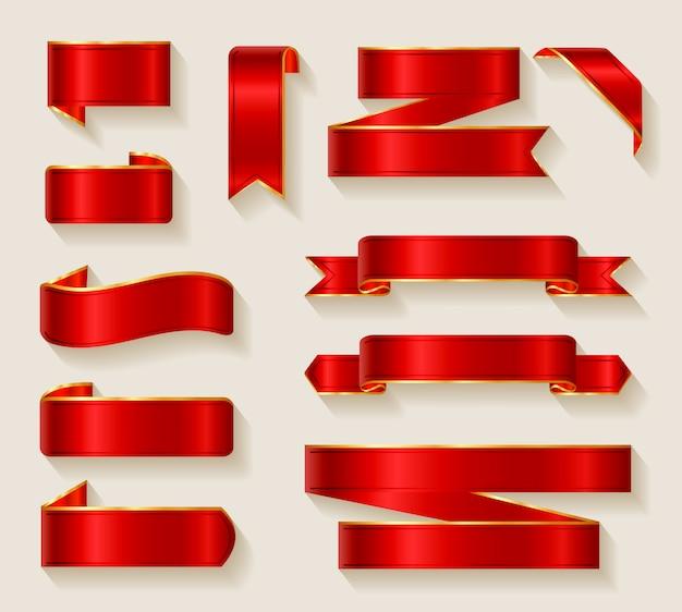 Коллекция красных лент