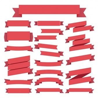 Коллекция красные ленточки
