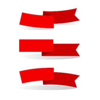 Красные ленточки на светлом фоне
