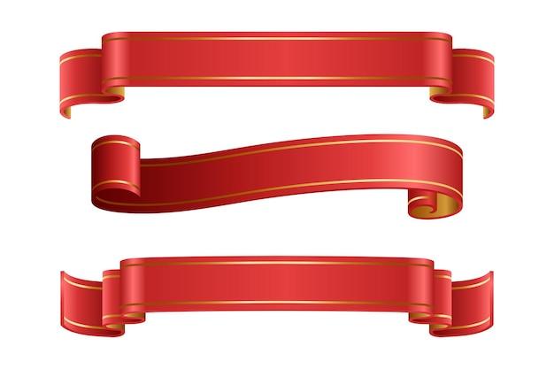 Набор красных лент