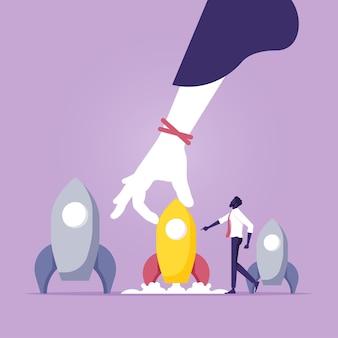 グループのリーダーとしての赤いロケット群衆から目立つというアイデア