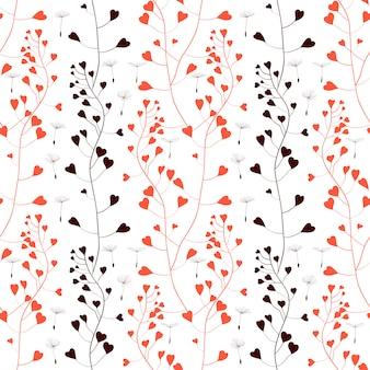 Red romantic weeds