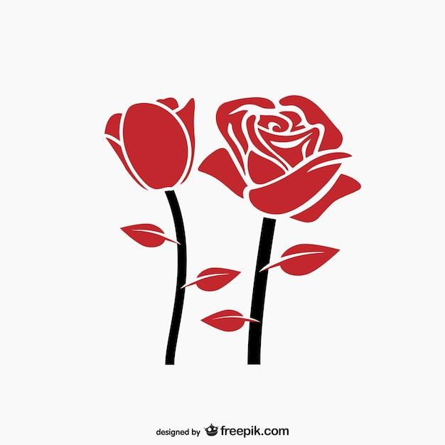 roses vectors photos and psd files free download rh freepik com rose vector art rose vector tutorial