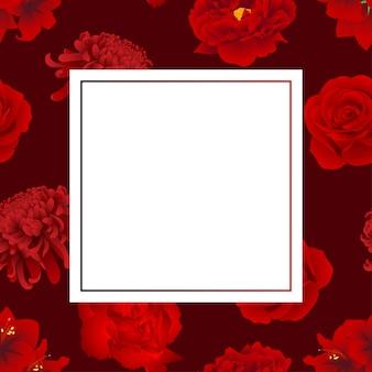 赤いバラ Premiumベクター