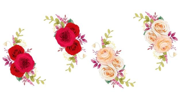 赤いバラの花の花輪