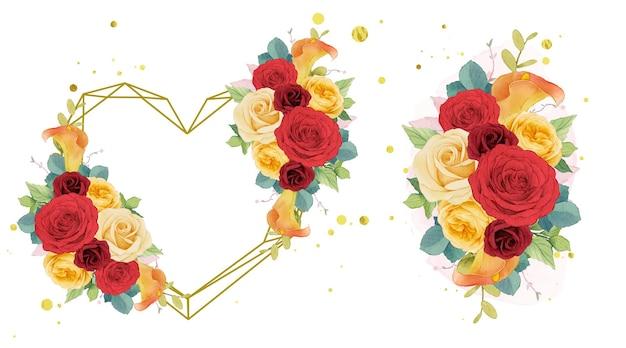 빨간 장미 꽃 화환