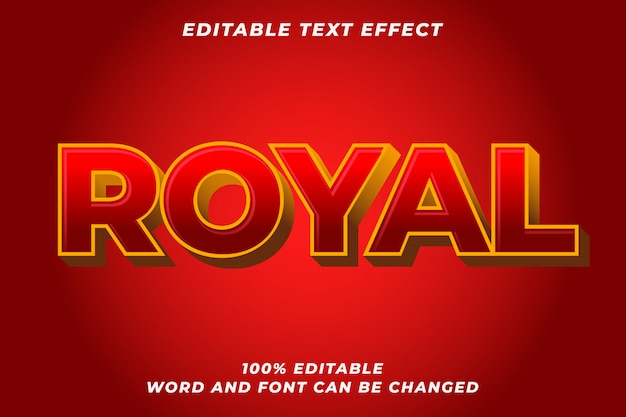 Red royal text style effect