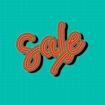 Красная распродажа каллиграфия слово иллюстрация сетка
