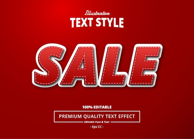 Red sale text effect