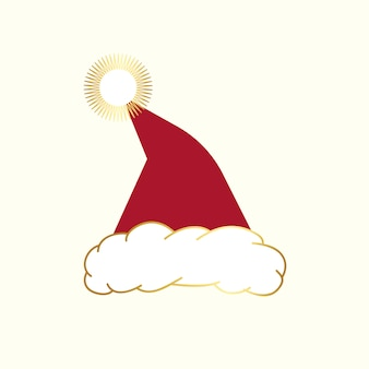 Red santa hat design vector