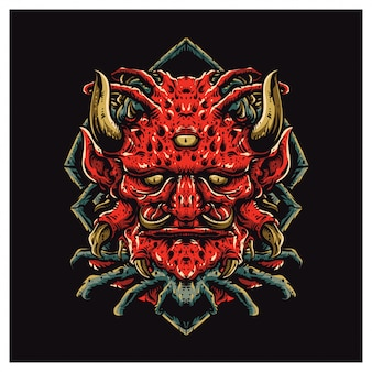 Red satan face
