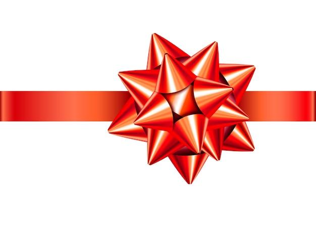 빨간색 새틴 선물 리본 및 활 절연