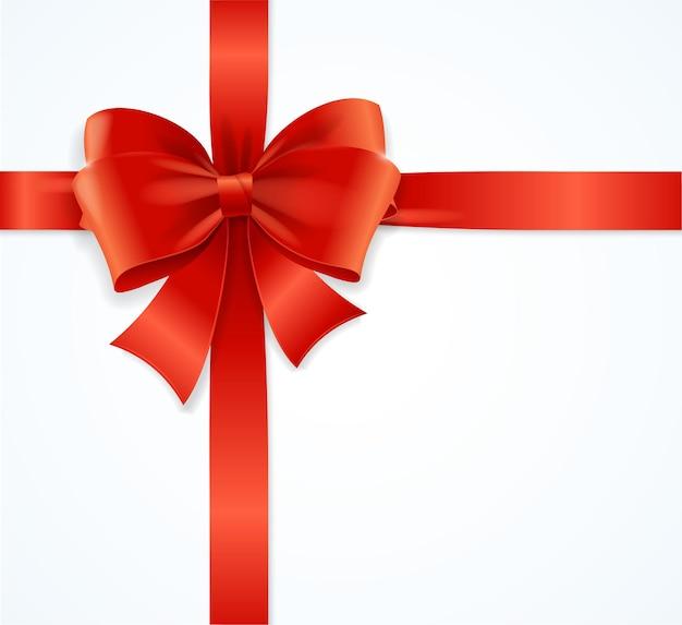 선물 상자에 적합한 빨간색 새틴 리본.