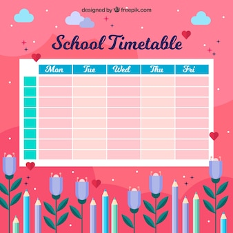 Red school timetable