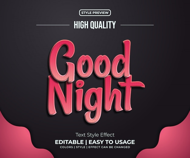 Red script text style effect with shadow and shiny line
