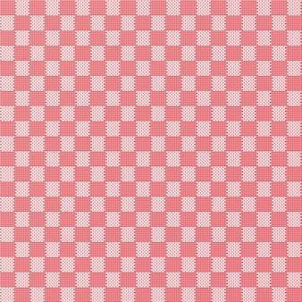 赤いシームレスな生地のテクスチャパターン