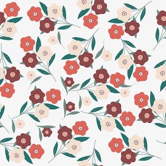 Red seamless pattern seamless