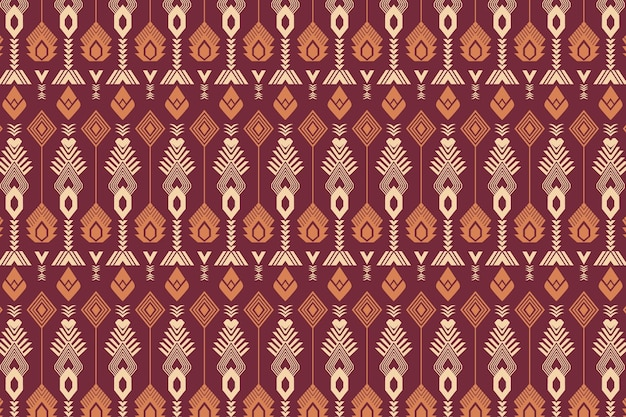Red seamless songket pattern template