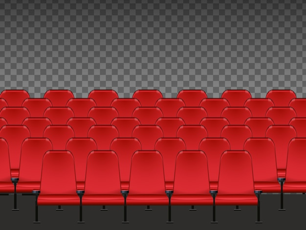 Red seat in the cinema isolated