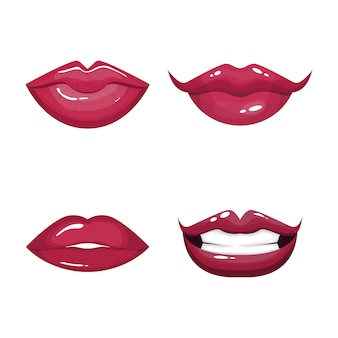 Red sexy lips set.