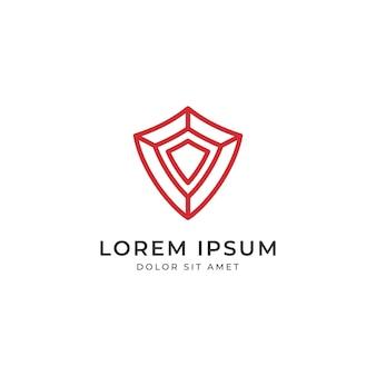 Красный логотип логотипа