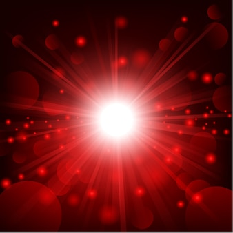 Red shine with lens flare background