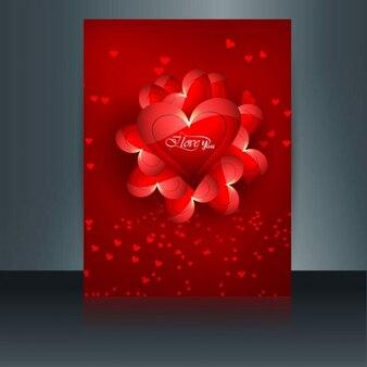 Red carta di san valentino lucido