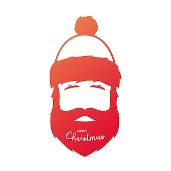 Red silhouette of santa claus