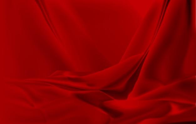 Красная шелковая ткань фон