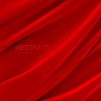 붉은 실크 직물. 추상적 인 배경.