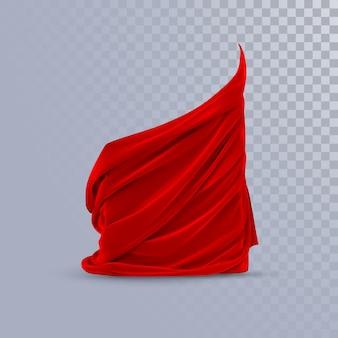 Красная шелковистая ткань. абстрактный фон.