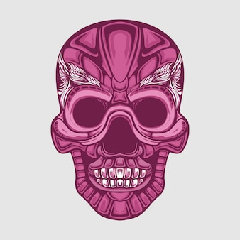 Red skull abstract illustration