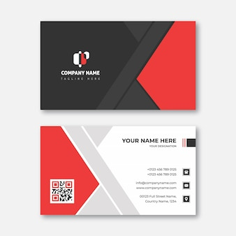 Red and smooth black corporate business card