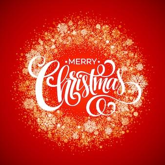 Red snowflake christmas wreath