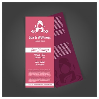 Red spa brochure template