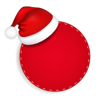 サンタの帽子と赤い吹き出し