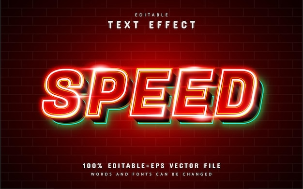 Red speed text effect