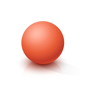 Red sphere, ball