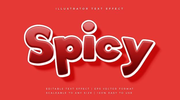 Красный пряный игривый эффект шрифта в стиле текста