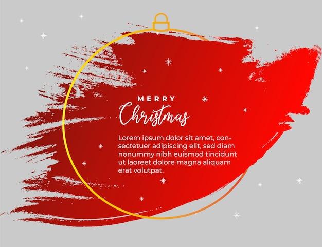 クリスマスの赤いスプラッシュバナー