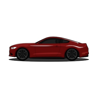 Red sports car modern realistic vector illustration