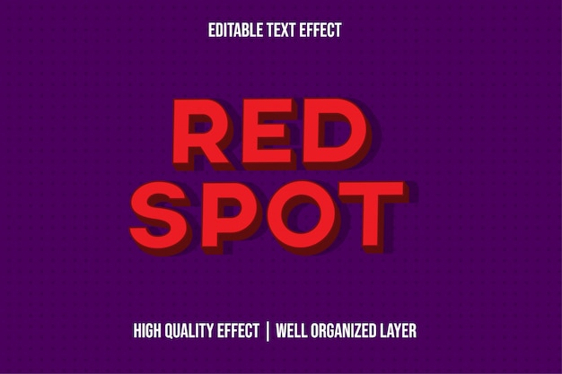 Red spot text effect style