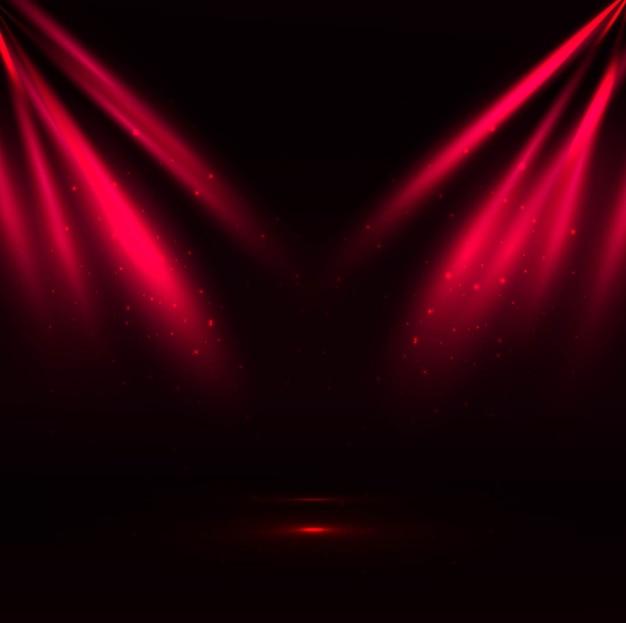 Red spotlight background