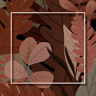 Red stacked leaves with a border