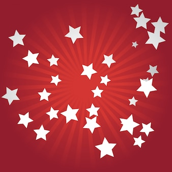 Red star background design